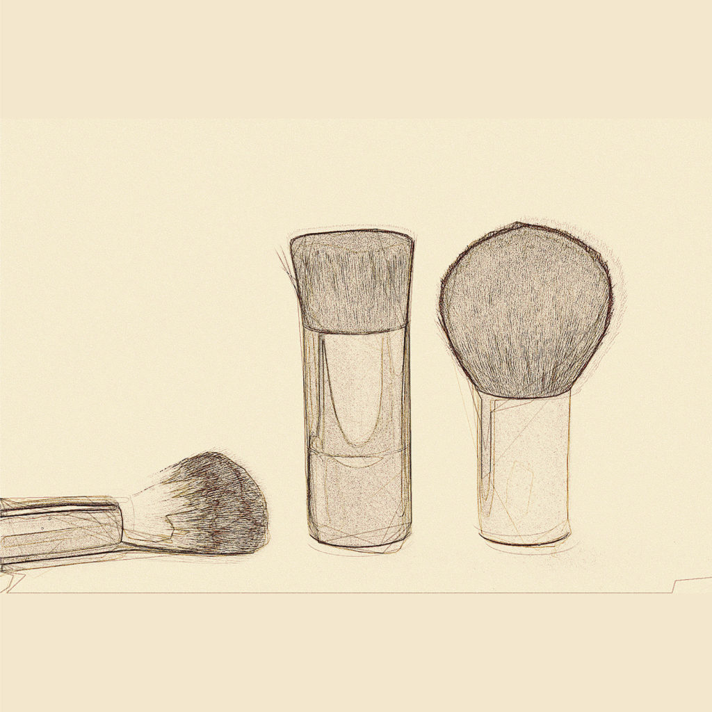netarù makeup sketch